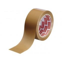 Verpakkingstape PVC 50mmx66m bruin/pak 6