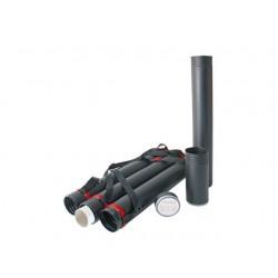 Tekeningkoker 1200-1600x80mm zwart/pk3