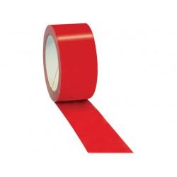 Verpakkingstape 50mmx66m pVc rood/pk6