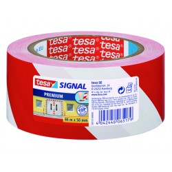 Markeringstape tesa PVC 50mmx66m rood/wt