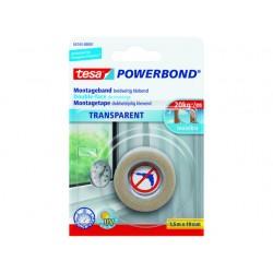 Klussentape Powerbond 19mmx1,5m transp.