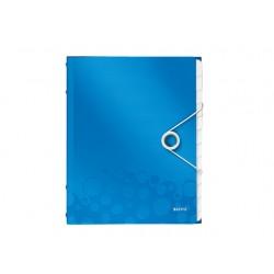 Sorteermap WOW A4 12 vakken PP blauw