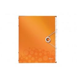Sorteermap WOW A4 12 vakken PP oranje