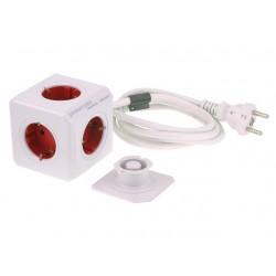 Stekkerdoos Powercube 5-voudig wt