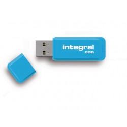 USB Stick Integral flash neon blauw 8GB
