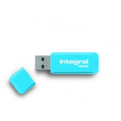 USB Stick Integral flash neon blauw 16GB