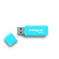 USB Stick Integral flash neon blauw 16GB