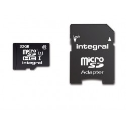 Geheugenkaart Integral MicroSDHC+Ad 32GB