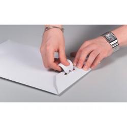 Envelop karton steeksl 370x285 wit/50