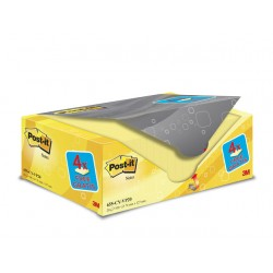 Notitieblok Post-It 76x127 kan.geel/pk20