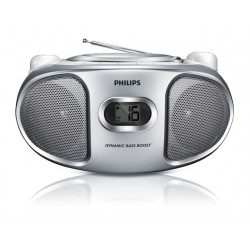 Radio Philips portable CD AZ105 silver