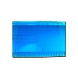 Liniaal Detectamet 30 cm blauw/zak 5