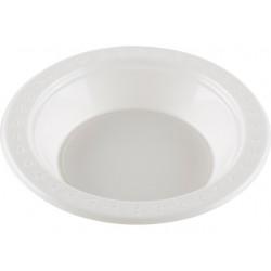 Soepkom plastic 340ml 18cm wit/pk50