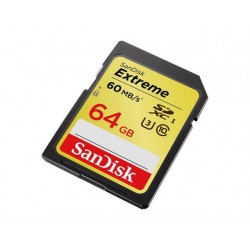 Geheugen Sandisk SDHC Extreme CL10/64GB