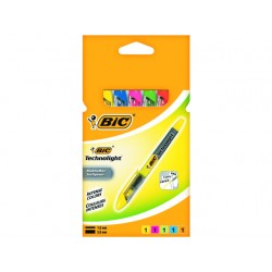 Tekstmarker BIC Technolight ass/pk 5