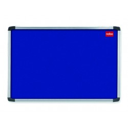 Prikbord nobo Elipse 60x45 vilt blauw