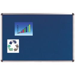 Prikbord nobo Elipse 90x60 vilt blauw