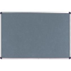 Prikbord nobo Elipse 90x60 vilt grijs