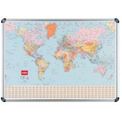 Kaart NOBO magnetisch wereld