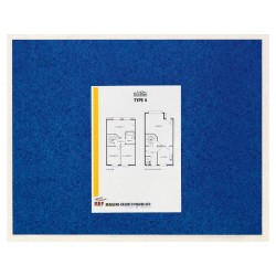 Memobord Post-it zelfkl. 585x460mm blauw