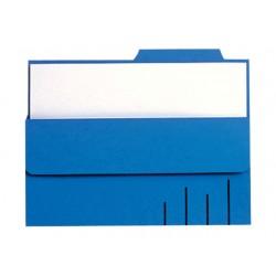 Soufletmap Secolor met tab A4 blauw/pk10