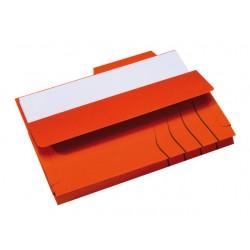 Soufletmap Secolor met tab A4 rood/pak10