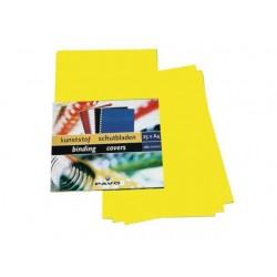 Schutblad A4 0,28mm PP geel/pk25