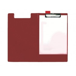 Klembord SPLS A4/folio foldover rood