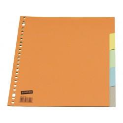 Tabblad SPLS A4 23R karton kleur/set 5