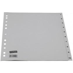 Tabblad SPLS A4 11R PP 1-10 grijs/set 10