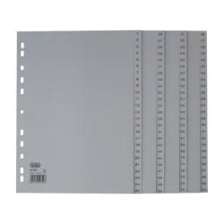 Tabblad ELBA A4 11R PP 1-100 grijs/se100