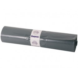 Afvalzak 80x120cm ldpe 60mu grijs/rol 25