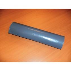Afvalzak 70x110cm ldpe 60mu grijs/rol 20