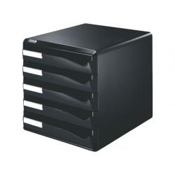 Ladenblok Leitz 5 laden zwart/zwart