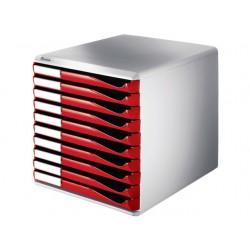 Ladenblok Leitz 10 laden rood
