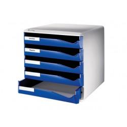 Ladenblok Leitz 5 laden blauw/grijs