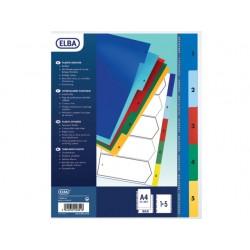 Tabblad ELBA A4 11R PP 1-10 kleur/set 10