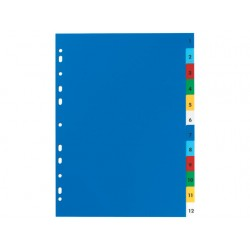 Tabblad ELBA A4 11R PP 1-12 kleur/set 12