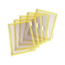 Zichtpaneel Tarifold A4 PVC geel/doos 10