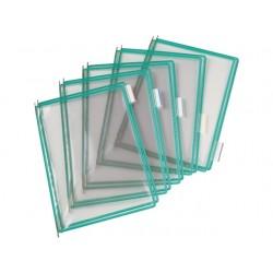 Zichtpaneel Tarifold A4 PVC groen/doos10