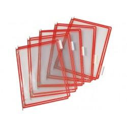 Zichtpaneel Tarifold A4 PVC rood/doos 10