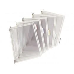 Zichtpaneel Tarifold A4 PVC wit/doos 10