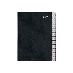 Sorteermap SPLS A4 24 vakken A-Z zwart