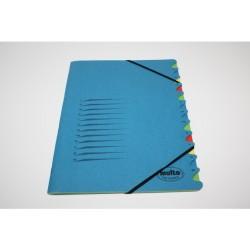 Sorteermap elasto Multo folio 12-vak bl
