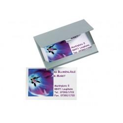 Visitekaarthouder Sigel 90x55 aluminium