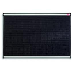 Prikbord nobo Prestige 90x60 foam zwart