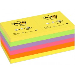 Notitieblok Z-Note 76x76 rainbow/pak 12