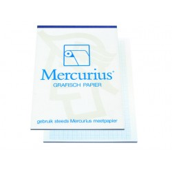 Millimeterpapier A4 blauw/blok 50v