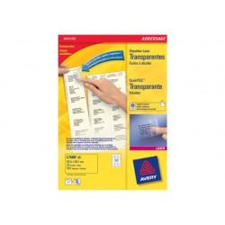 Etiket AVERY I 64x38 transparant/pak 525