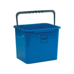 Emmer 7 liter rechthoek blauw